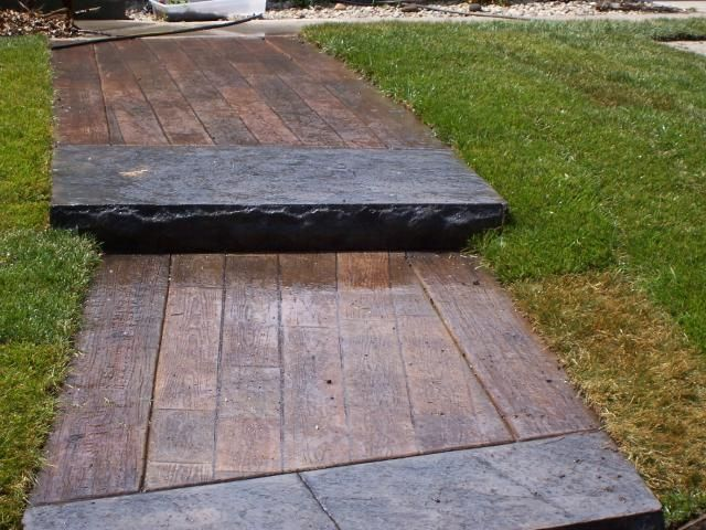 Artistic_Stamped_Concrete_Maryland_Decorative_Concrete_Walkway_Wood_Facsimile_Prince_George_County_MD